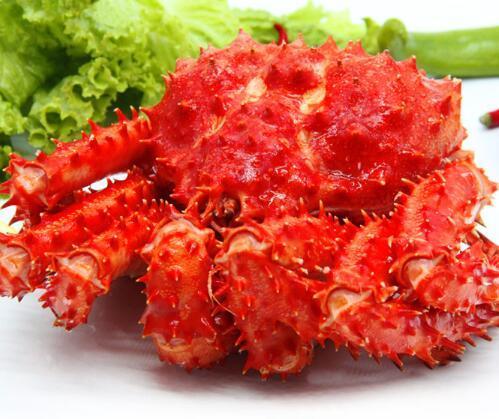 大连领鲜海产 熟冻智利进口帝王蟹2.8-3.2斤