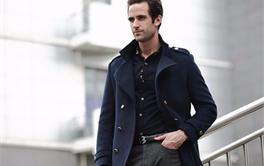 2017年八款500元内时尚舒适的中长款男士毛呢大衣排行