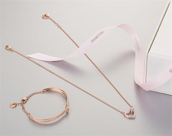 Swarovski/施华洛世奇 为爱比心项链手链两件套装