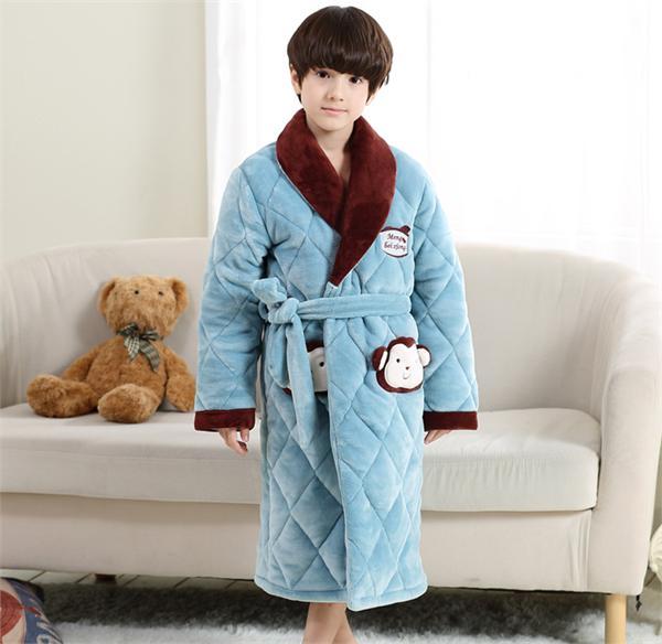 涵玥天使母婴专营店 冬季夹棉加厚款睡袍