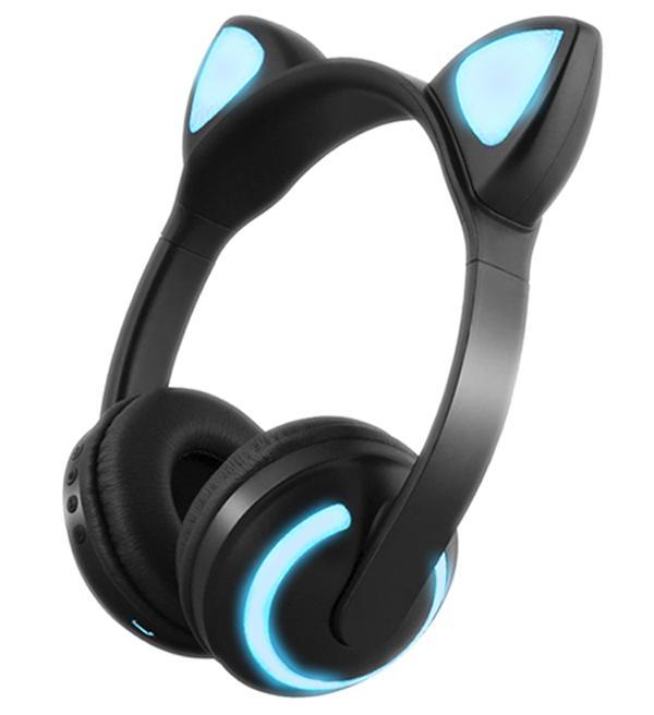 普雷多 猫耳朵发光无线头戴式蓝牙耳机