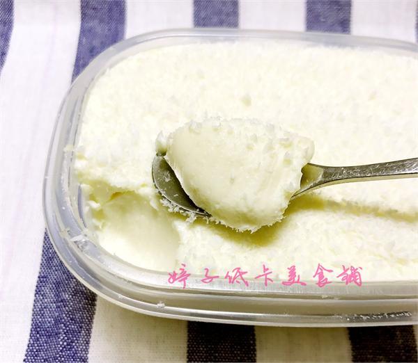 婷子低卡美食铺 低卡无糖椰奶冻小方