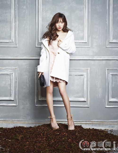 少女时代金泰妍鲜花环绕拍写真露长腿 前瞻
