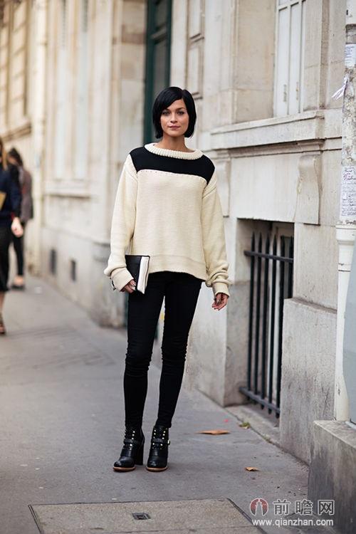 秋冬欧美时尚街拍 时髦街头的裤装女郎