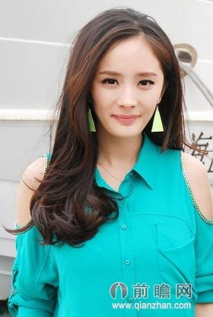 杨幂2016年韩式烫发发型