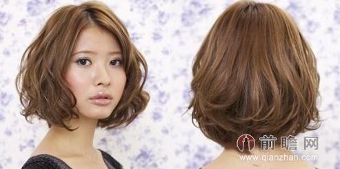 矮个子女生日系发型 短发烫发bobo头时髦显瘦