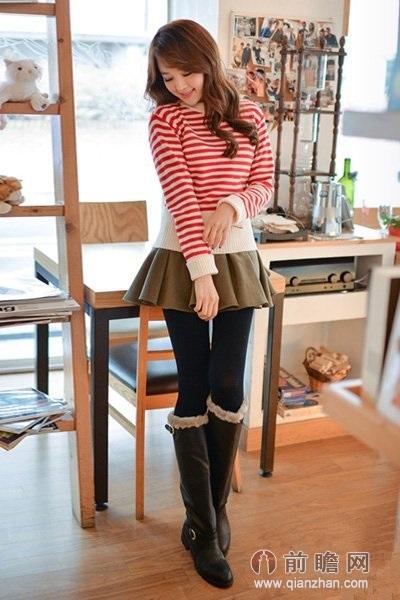 复古毛衣日本韩国时尚街拍美女