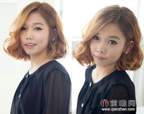 2014日系女生短发烫发发型