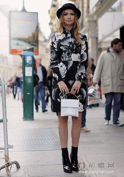 印花套装欧美时尚街拍