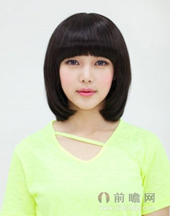 日本不规则刘海齐刘海短发发型