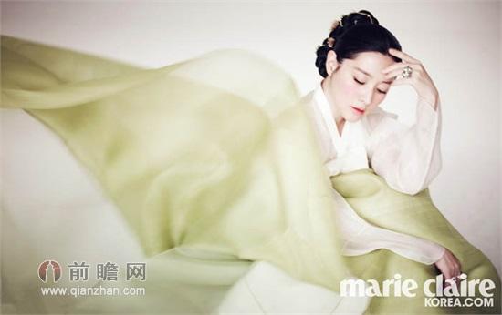 氧气美女李英爱 韩服时尚写真展古典气质