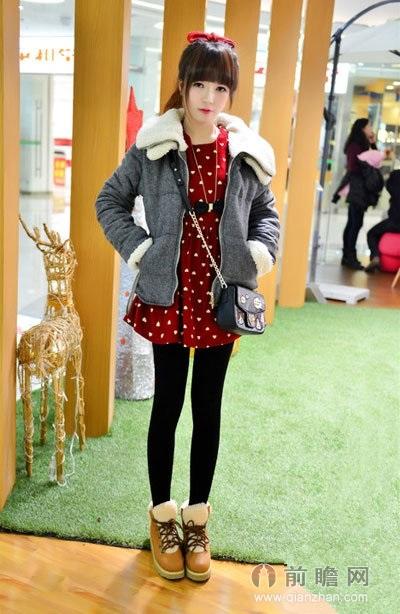 小个子女生冬季穿衣(2) 竖