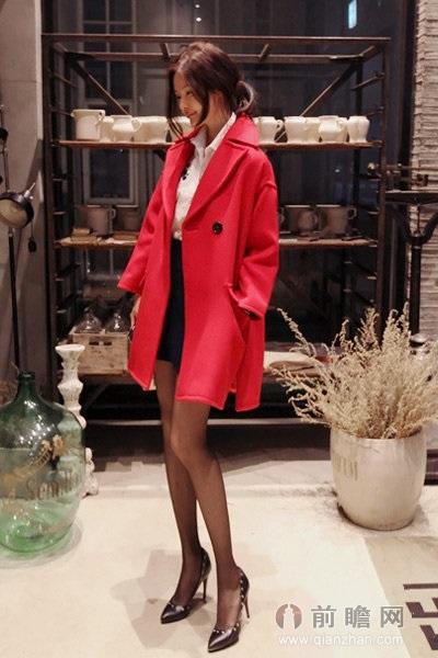呢大衣日本韩国欧美时尚美女街拍