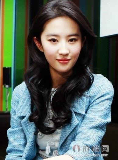 刘诗诗周冬雨刘亦菲允儿 氧气美女的清新发型
