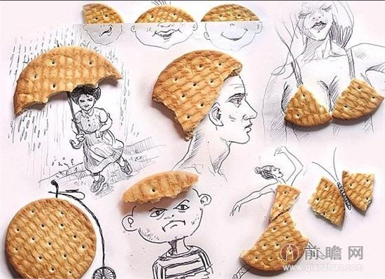 美食画画图片简单版