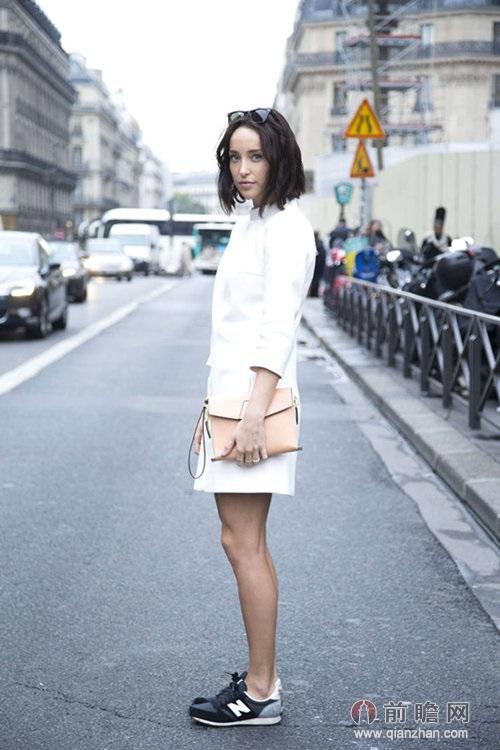 欧美时尚街拍运动鞋图片