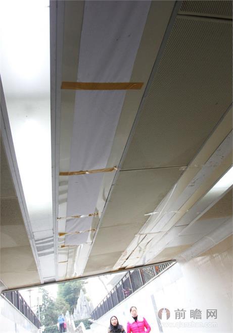 湖北造价1200万地下通道 吊顶竟用纸糊胶粘!