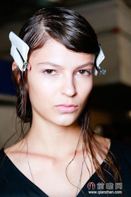 美容美发美女模特发型欧美时尚时装周后台
