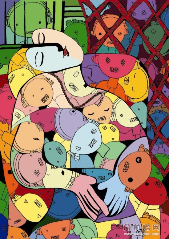 梵高毕加索蒙克达芬奇名画的创新表达图片