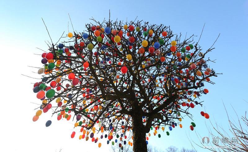 植树简笔画 彩色