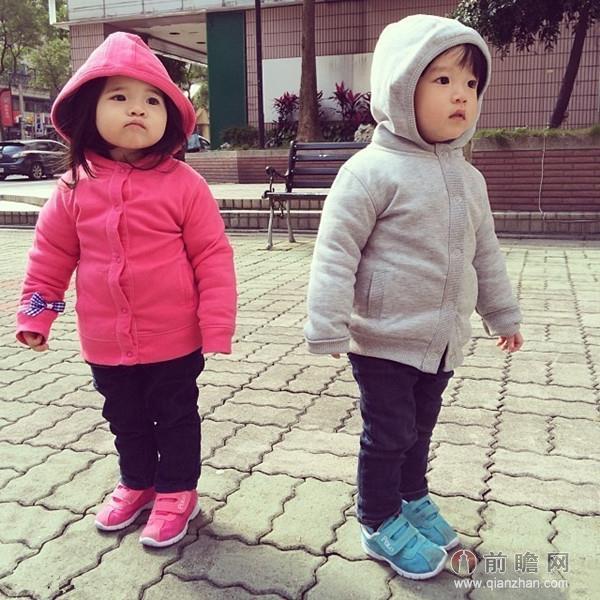 台湾人气龙凤胎宝贝 超萌生活照网友狂呼可爱