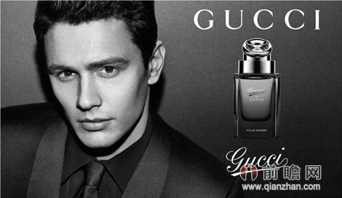 gucci 男士香水广告