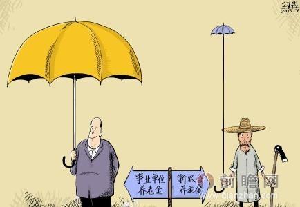 """""""职工与居民养老保险基金收支差距大""""的说法有可比较性吗"""