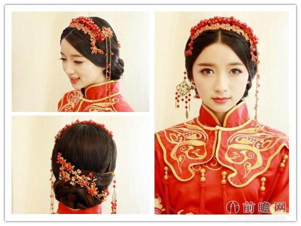 中式婚礼短发新娘发型分享展示