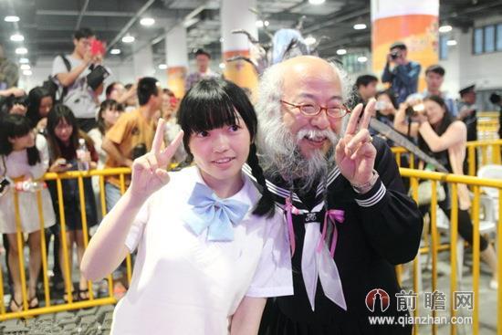 日本水手服爷爷小林秀章杭州动漫节2014第十届中国国际动