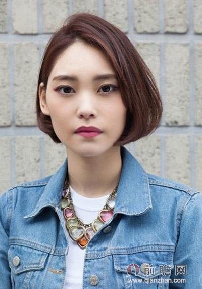夏季流行中短发发型 波波头气质最瘦脸图片