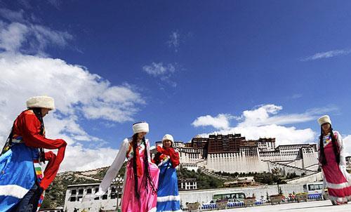 西藏哈达图片素材