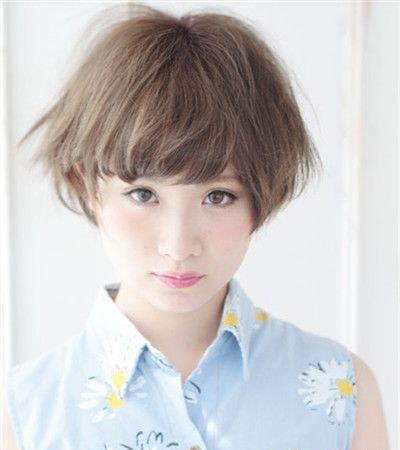 清爽锅盖头短发发型 俏皮可爱又减龄