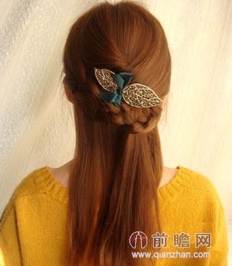 扎简单中长发发型分享展示图片