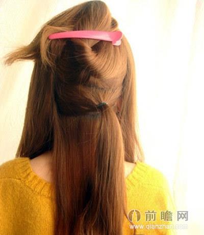 夏季中长发发型扎法图解 清爽韩式淑女风