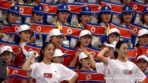朝鲜拉拉队赴韩准备仁川亚运会 李雪主曾以拉拉队队员