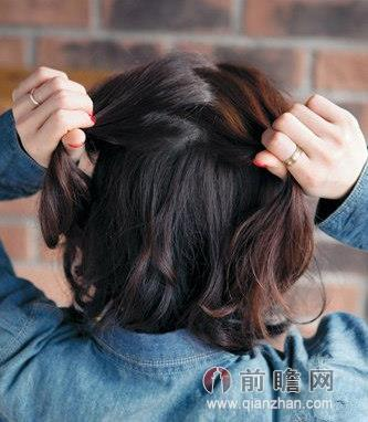 实用中长发发型扎法步骤 清新自然迷人气质