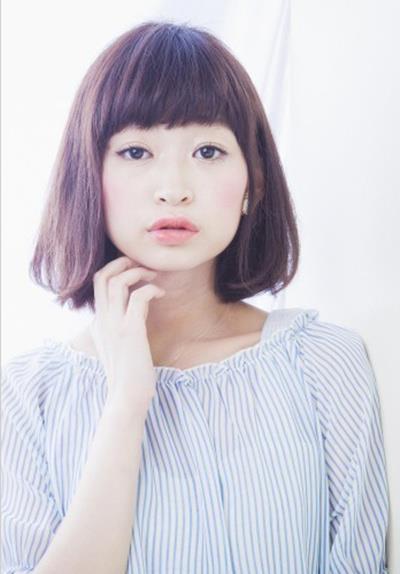 日本韩国日系韩范女生染发短发直发发型