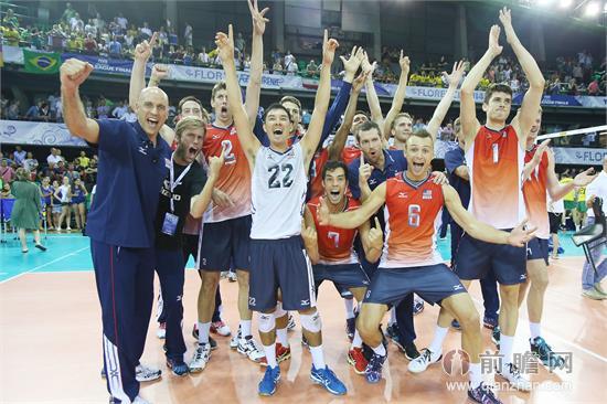 2014世界男排联赛最终排名:美国巴西意大利分