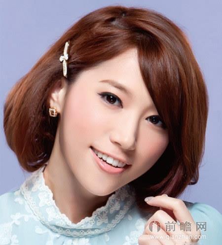 韩式发型扎发图解:长发变短发波波头 (450x497)