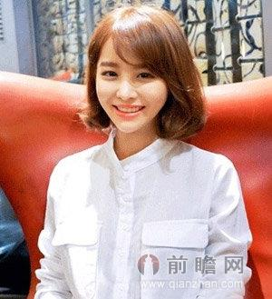 韩式短发烫发发型 俏皮可爱修颜瘦脸