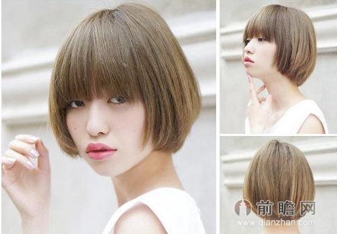 日系短发波波头发型 时尚个性完美瘦脸图片