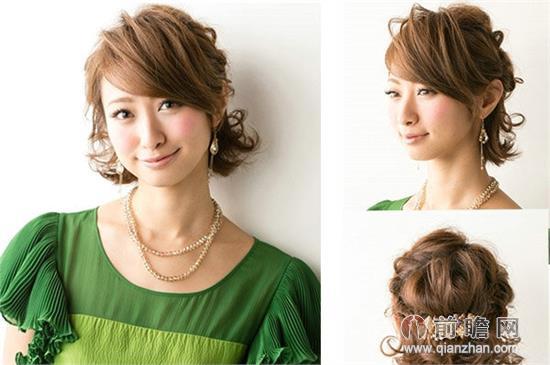 简单好看短发盘发发型 修颜瘦脸淑女气质