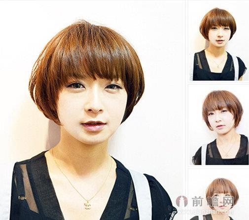 金龟子女儿蘑菇头发型呆萌 减龄可爱蘑菇头短发推荐