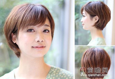 日系森女短发发型 打造文艺清新范儿