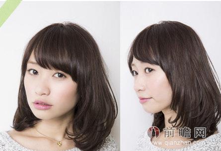 内扣发型的轮廓显得比较圆润可爱,发尾梯度的修剪增加蓬松感,让mm的发