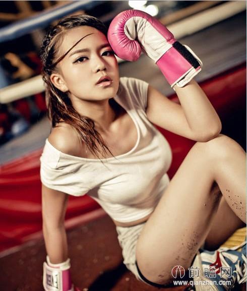 拳击妹子主持人十强马入选湖南全国周薇曾走红美女美女主播一字坊美女秀色(图)图片