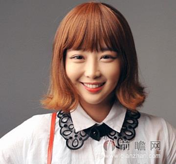 韩式短发烫发发型 发尾外卷俏皮时髦