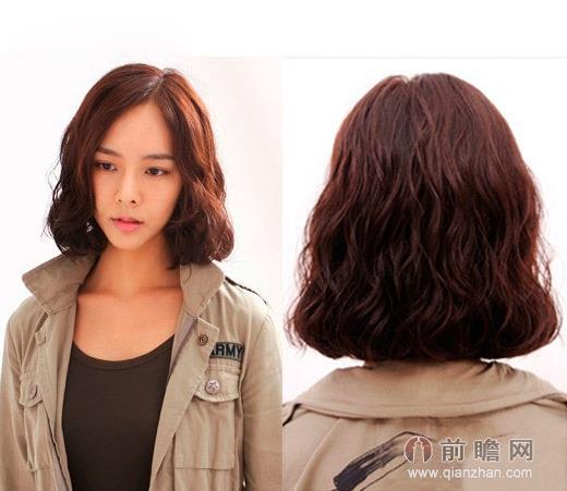 韩式短发蛋卷头发型 俏皮可爱清新气质