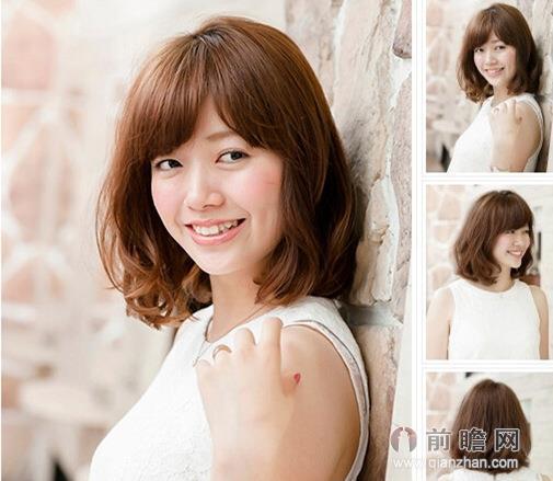 女生秋冬中长发烫发发型设计 气质满分修颜瘦脸