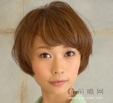 圆脸女生适合日本韩国日系韩范短发发型